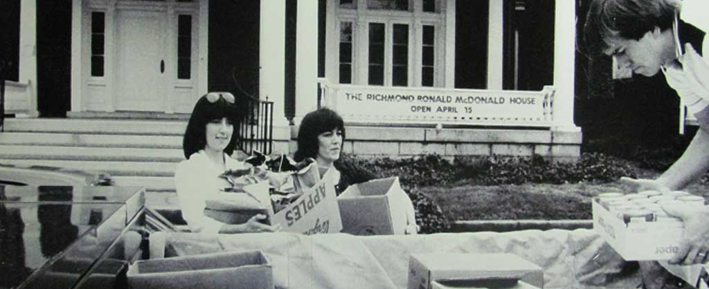 historic photo of the opening of the richmond ronald mcdonald house